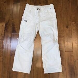 Women's White The North Face  Hyvent Snow Ski Pants Size Large EUC
