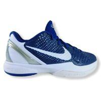 Nike Zoom Kobe 6 VI Blue Metallic Concord White Mens Basketball Sneaker Sz 11