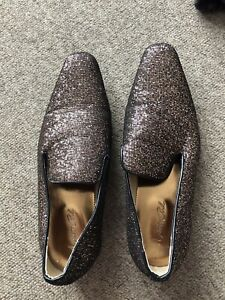 Mister Carlo Mens Sparkle Glitter Loafer Shoes Size 10     A288