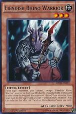 Fiendish Rhino Warrior (BOSH-EN091) - Rare - Near Mint - 1st Edition