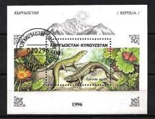 Animaux Kirghizstan reptile (83) bloc oblitéré