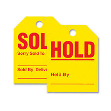 SOLD / HOLD - Jumbo Mirror Hang Tags (Yellow) (Form # 280-SH) (50 per pack)