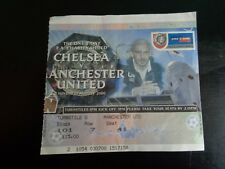 Chelsea et Manchester United Charity Shield @ Wembley ticket 2000