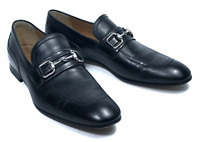 GUCCI men's leather black horsebit loafers shoes   Size 7.5 / US 9.5 (10.6 in)
