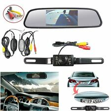 """4.3""""TFT LCD Color Car Mirror Monitor+ Wireless Backup Camera for Parking System"""