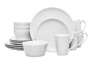 Noritake Wow Swirl Coupe 16 Pc Dinnerware Set, Service for 4 Color Scapes #110