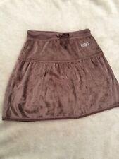 NEW BCBG MAXAZRIA Cocoa Girls Velour Mini Skirt Elasticated Drawstring Age 12