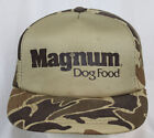 Vintage Magnum Dog Food Snapback Hat Trucker Farmer Cap YA Camouflage Print