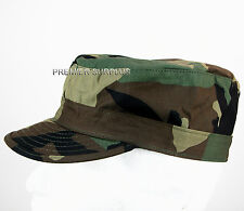 US Army Woodland Camo BDU Patrol Cap, NEW