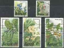 Timbres Flore Kenya 343/7 o lot 27213 - cote : 25 €