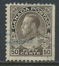 Canada #120ii(9) 1923 50 cent brown black KING GEORGE V Used CV$3.00