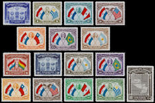 Paraguay Scott 355-361, C113-C121 (1939) Mint/Used LH/NH VF Complete Set