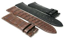 Dubey & Schaldenbrand  Brown and Black Crocodile Strap Alligator Band 24 22 18
