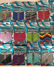 ITS ACADEMIC JUMBO BOOK COVER XXL SUPER STRETCHY 10x15 CHOOSE COLORS