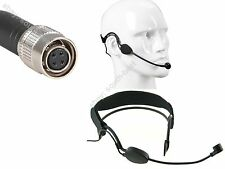 Pro Headset / Headworn Microphone Hirose 4Pin For Audio Technica Wireless