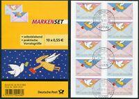 Bund 5 x 2790 - 2791 Folienblatt FB 12 gestempelt Hamburg Selbstklebende
