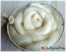 5 Feet Natural Cream Romney Top Wool Roving Spinning Felting Dolls 1.5 Ounces