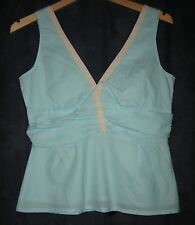 EDITH & ELLA aqua ruche wench TOP 10 RP£99 scrumptious! kawaii pin up
