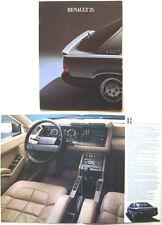Renault 25 1984 Original Dutch Market Foldout Brochure