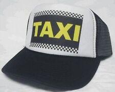 TAXI Trucker Hat mesh hat snapback hat Black new adjustable