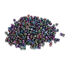 500Pcs Plastic Mixed Cube Alphabet Letter Beads DIY Jewelry Making Findings