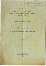 Giornale Medicina Caso di Nefrite Parenchimale Acuta Traumatica G. Cardon 1908