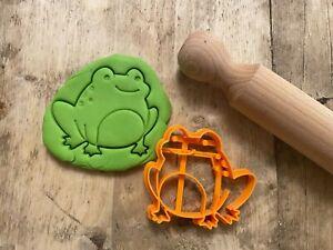 Cute Frog cookie cutter, biscuit cutter icing embosser cutter