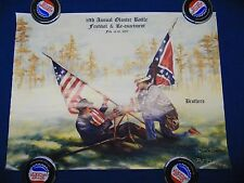"""19th Annual Olustee Battle Festival & re-enactment 1997 """"BROTHERS"""" SIGNED Davis"""