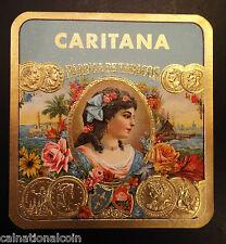 Caritana Fabrica de Tabacos Vintage Cigar Box Label