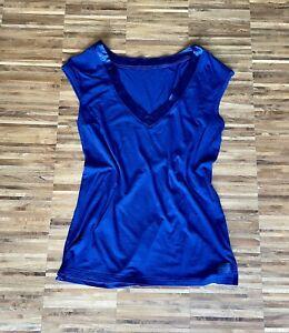 Original Calvin Klein Top Shirt Bluse Blau Größe M