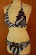 Rebecca Triangel Bikini schwarz/silber  B – Cup  Gr. M 390300