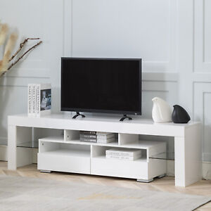 TV Stand Wood Media Storage Console 65 Inch TV Flat Screen TV Cabinet Consoles W