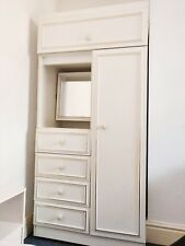 Small White Wardrobe With Mirror & Drawers