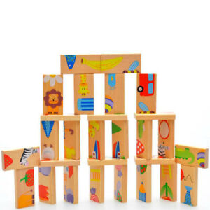 Wooden Dominos Toys Kids Educational Toys Puzzle Toys for Kids Toddlers