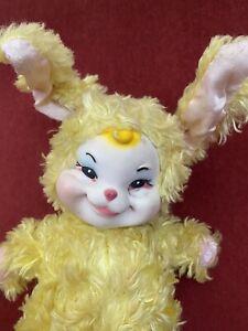 1950's Vintage Rare The Rushton Company Rubber Face Bunny Plush Toy