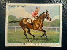 WILLS,     RACEHORSES. &. JOCKEYS 1938.   1. ODD CARD   No. 34.