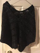 Express Black Glitter Sweater S