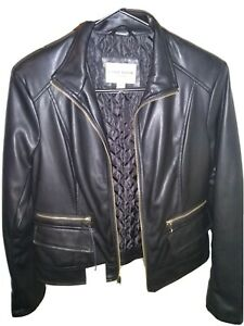 Cole Haan Leather Jacket Lambskin Size S