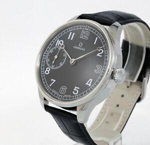 Vintage 1900s Man Omega Swiss pocket watch movement Cal19LB+origin hand+new case