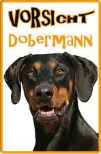 DOBERMANN - A4 Metall Warnschild SCHILD Hundeschild Alu Türschild - DBM 18 T8