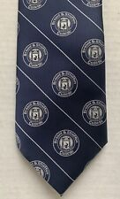 "BRYANT & STRATTON NECK TIE, BLUE AND SILVER, 58"" LONG, NEW NWOT"