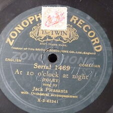 78rpm JACK PLEASANTS at 10 o`clock at night / why do they call me archibald