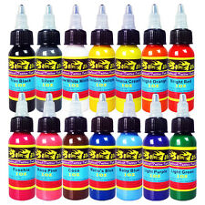 Solong Tattoo Ink 14 Colors Set 1oz 30ml/Bottle Tattoo Pigment Kit