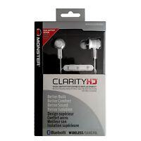 Monster Clarity HD In-Ear Kopfhörer Bluetooth Stereo Headset, 3 Tasten! weiß