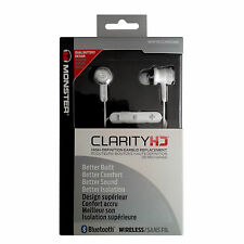 Monster Clarity HD In-Ear Kopfhörer Bluetooth Stereo Headset, 3 Tasten! weiß