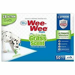 """Four Paws Wee-Wee Grass Scented Puppy Pads 50 Count Standard 22"""" x 23"""""""