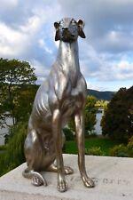 Windhund Figur Hund Gartenfigur Skulptur Rüde Hündin Statue Dekoration Neu