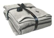 Polo Ralph Lauren Towel set Of 2 Bath Hand Light Grey TV63 GIFT CHRISTMAS XMAS