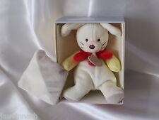 Doudou pantin, chien collerette rouge, mouchoir, Baby Nat, (Babynat) réf :BN295