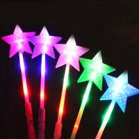 Star LED Light Up Glow Sticks Rally Rave Batons Flashing Party Festivals Decor